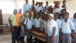 8th grade students at Abuko Upper Basic School